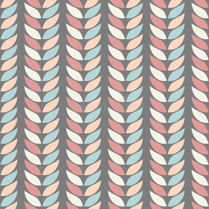 Άνευ ραφής γεωμετρικά σχέδια υποβάθρου των φύλλων στα χρώματα κρητιδογραφιών σε ένα υπόβαθρο του γραφίτη στοκ εικόνες