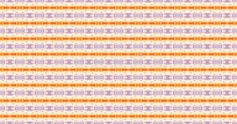 Άνευ ραφής γεωμετρική εορταστική διακόσμηση με το πορτοκάλι και τη βιολέτα eleme διανυσματική απεικόνιση