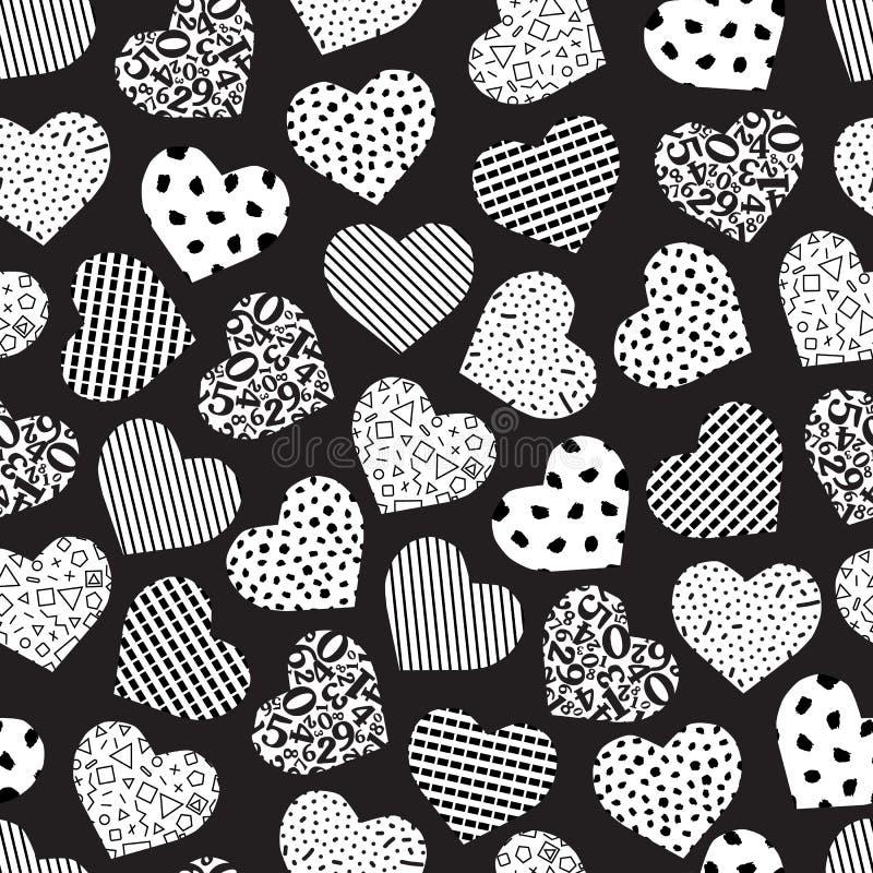 Άνευ ραφής γεωμετρική καρδιά διανυσματική απεικόνιση