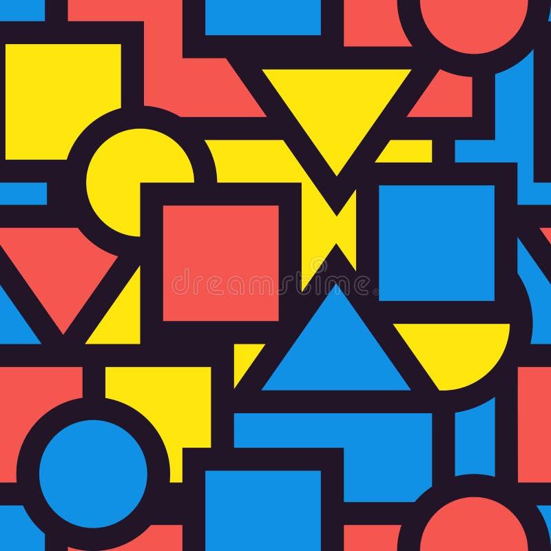 Άνευ ραφής γεωμετρικός γραφικός σχεδίων υποβάθρου Διάνυσμα illustrat ελεύθερη απεικόνιση δικαιώματος