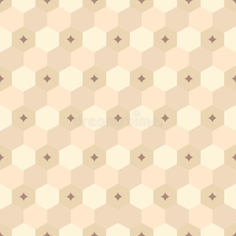 Άνευ ραφής γεωμετρικό αφηρημένο σχέδιο hexagons χρώματος ελεύθερη απεικόνιση δικαιώματος