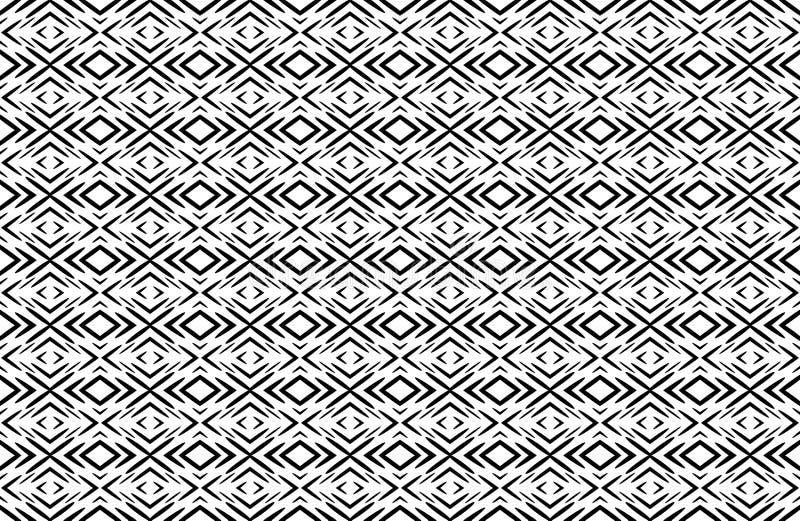Άνευ ραφής γεωμετρικό γραπτό σχέδιο με το αφηρημένο μαύρο ε ελεύθερη απεικόνιση δικαιώματος