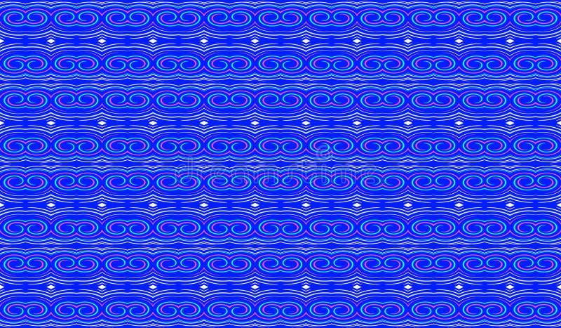 Άνευ ραφής γεωμετρικό σχέδιο σε ένα μπλε υπόβαθρο Σύσταση για το FA διανυσματική απεικόνιση