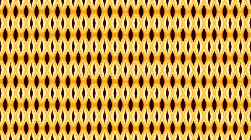 Άνευ ραφής γεωμετρικό σχέδιο στα θερμά χρώματα με το αφηρημένο στοιχείο διανυσματική απεικόνιση
