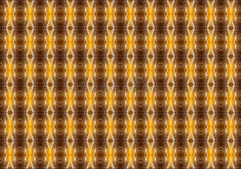 Άνευ ραφής γεωμετρικό σχέδιο στα θερμά χρώματα σε ένα καφετί background_ ελεύθερη απεικόνιση δικαιώματος