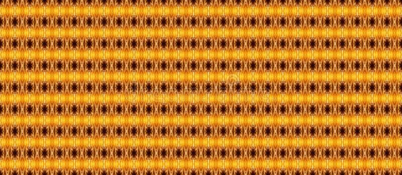 Άνευ ραφής γεωμετρικό σχέδιο στα κίτρινος-καυτά χρώματα σε ένα σκοτεινό backgr ελεύθερη απεικόνιση δικαιώματος