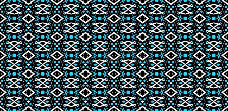 Άνευ ραφής γεωμετρικό σχέδιο των άσπρων και μπλε αφηρημένων στοιχείων ο διανυσματική απεικόνιση