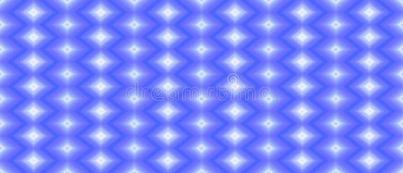 Άνευ ραφής γεωμετρικό σχέδιο των διαμαντιών σε ένα μπλε υπόβαθρο te διανυσματική απεικόνιση