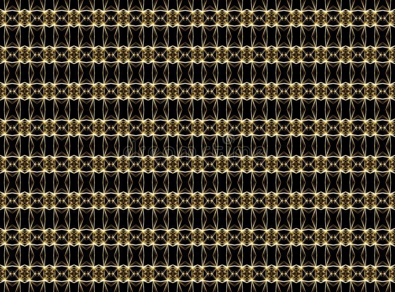 Άνευ ραφής γεωμετρικό σχέδιο των λεπτών γραμμών στα χρυσά χρώματα σε ένα δ ελεύθερη απεικόνιση δικαιώματος