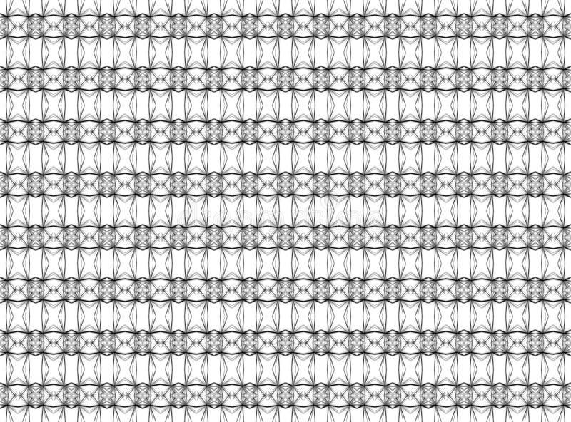 Άνευ ραφής γεωμετρικό σχέδιο των λεπτών γραμμών στο Μαύρο και white_ απεικόνιση αποθεμάτων