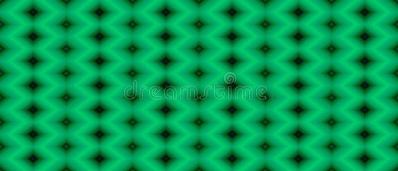 Άνευ ραφής γεωμετρικό σχέδιο των μαύρων διαμαντιών σε ένα πράσινο backgrou διανυσματική απεικόνιση