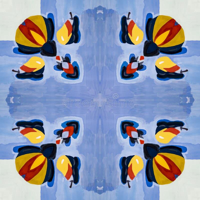Άνευ ραφής γεωμετρικό σχέδιο των πολύχρωμων χρωματισμένων στοιχείων διανυσματική απεικόνιση