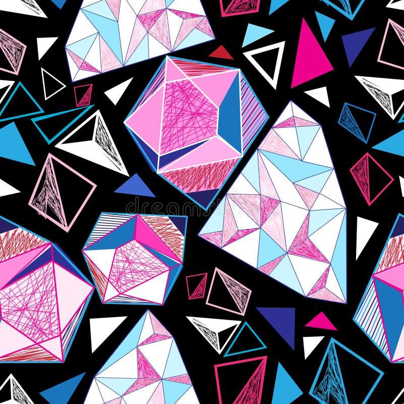 Άνευ ραφής γεωμετρικό σχέδιο των τριγώνων απεικόνιση αποθεμάτων