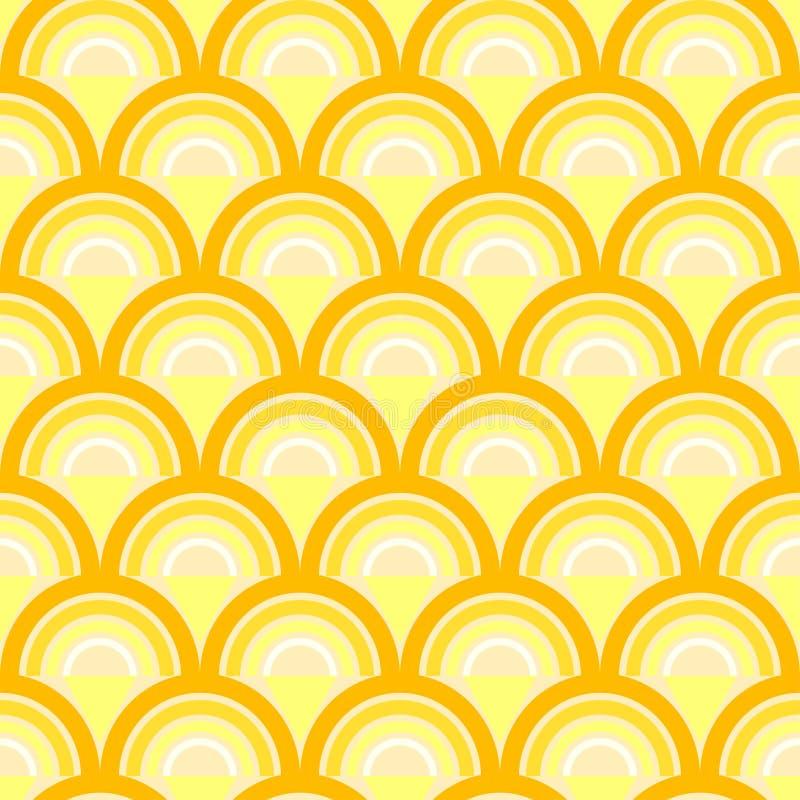 Άνευ ραφής γεωμετρικό σχέδιο με τα κύματα στο αναδρομικό ύφος. απεικόνιση αποθεμάτων