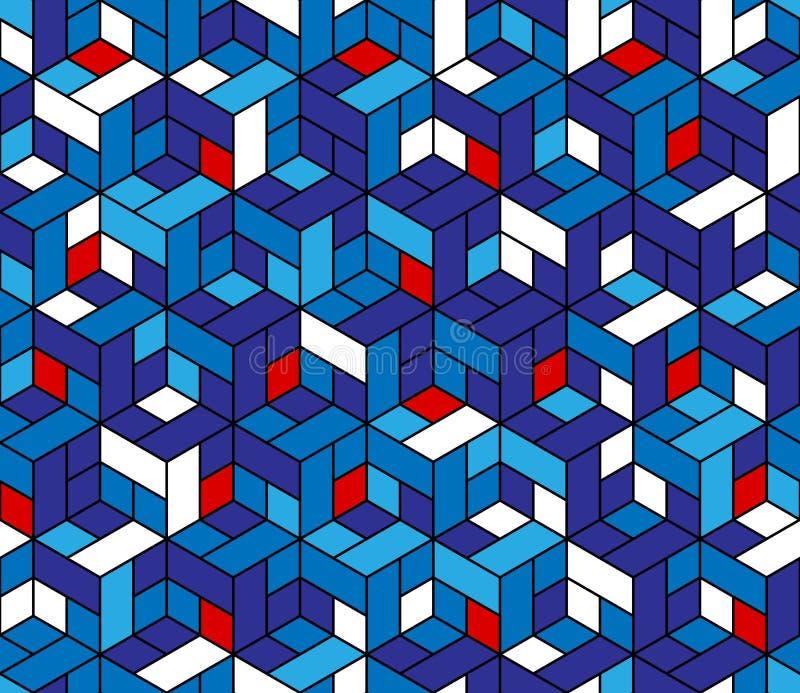 Άνευ ραφής γεωμετρικό σχέδιο με τους κύβους. ελεύθερη απεικόνιση δικαιώματος