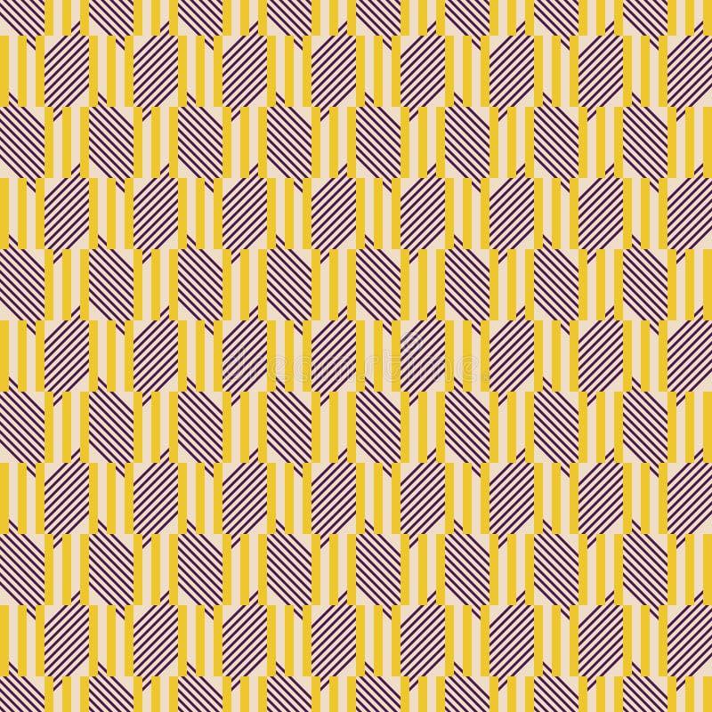 Άνευ ραφής γεωμετρικό σχέδιο των τριπλών ραβδιών και των διαγώνιων γραμμών ελεύθερη απεικόνιση δικαιώματος