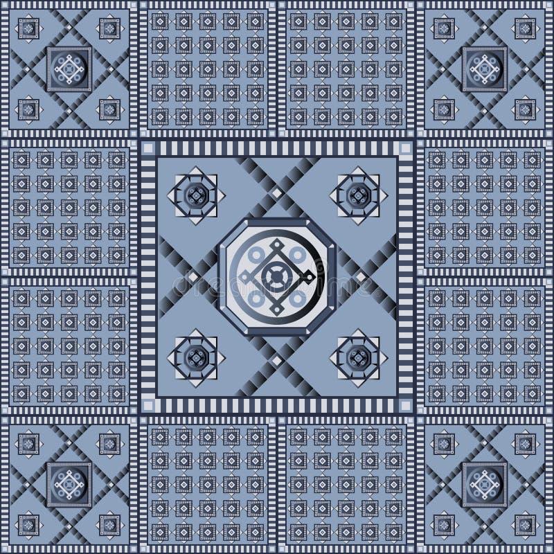 Άνευ ραφής γεωμετρικό σχέδιο 9 διανυσματική απεικόνιση