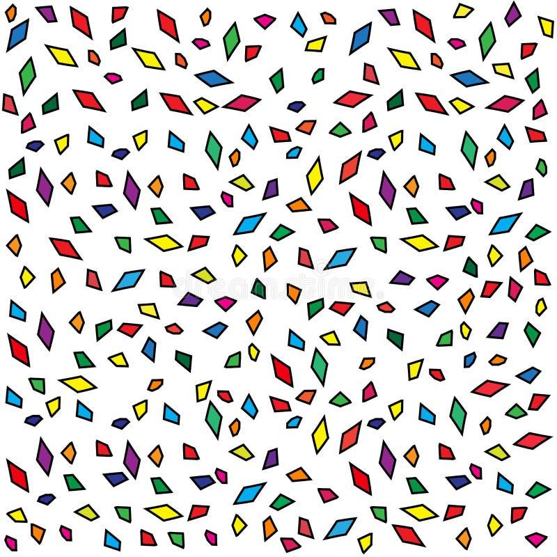 Άνευ ραφής γεωμετρικό υπόβαθρο μωσαϊκών σχεδίων διανυσματικό με τη διαφορετική αφηρημένη εκλεκτής ποιότητας αναδρομική τέχνη σχεδ ελεύθερη απεικόνιση δικαιώματος