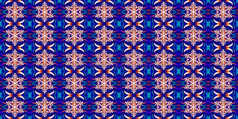 Άνευ ραφής γεωμετρικό χειμερινό σχέδιο με άσπρα snowflakes και abst διανυσματική απεικόνιση