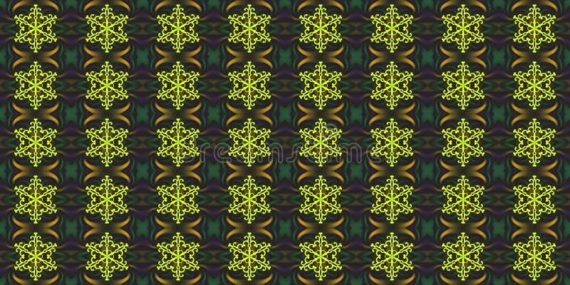 Άνευ ραφής γεωμετρικό χειμερινό σχέδιο με snowflakes και το αφηρημένο ε διανυσματική απεικόνιση