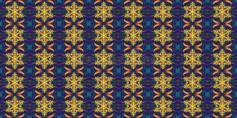 Άνευ ραφής γεωμετρικό χειμερινό σχέδιο με snowflakes και το αφηρημένο ε ελεύθερη απεικόνιση δικαιώματος