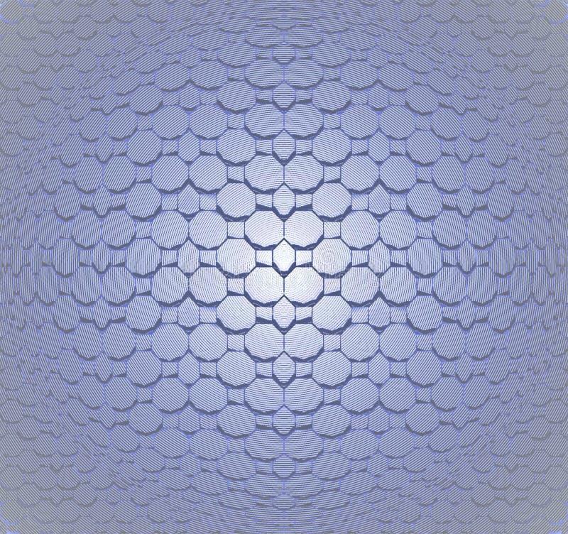 Άνευ ραφής γκρίζος μπλε κυρτός σχεδίων μωσαϊκών διανυσματική απεικόνιση