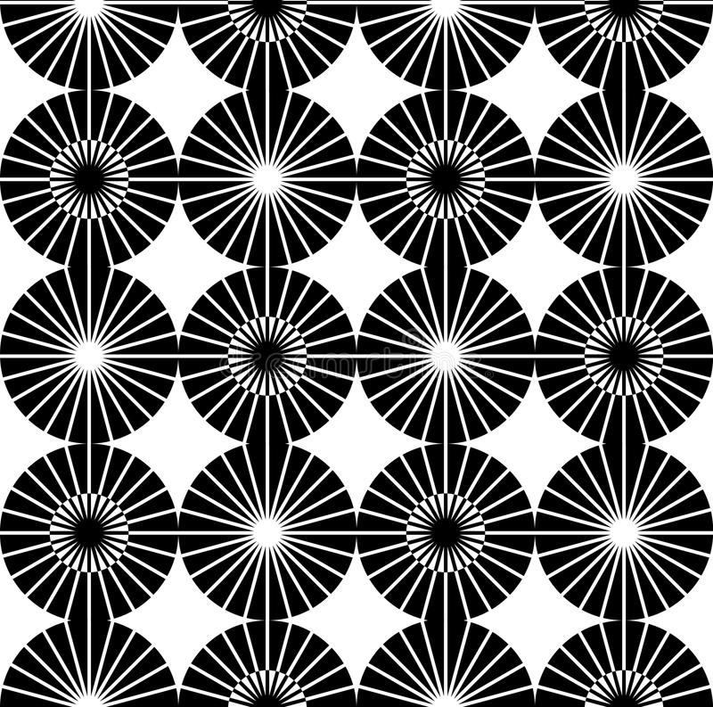 Άνευ ραφής γραπτό γεωμετρικό σχέδιο ελεύθερη απεικόνιση δικαιώματος