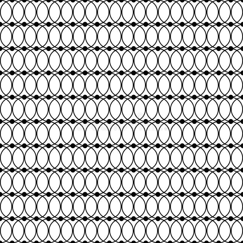 Άνευ ραφής γραπτό διακοσμητικό υπόβαθρο με τις γραμμές και τα σημεία Πόλκα απεικόνιση αποθεμάτων