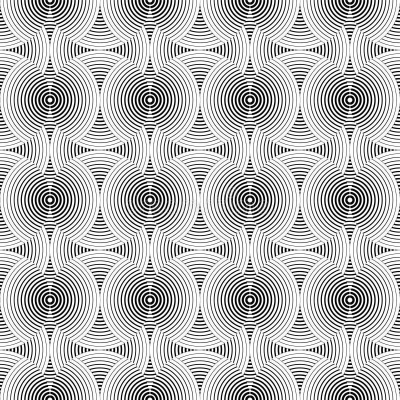 Άνευ ραφής γραπτό διακοσμητικό υπόβαθρο με τους κύκλους print επανάληψη ανασκόπησης Σχέδιο υφασμάτων, ταπετσαρία απεικόνιση αποθεμάτων