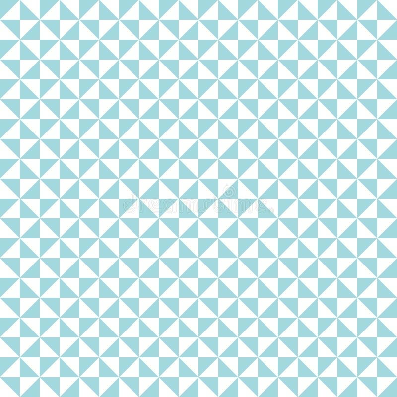 Άνευ ραφής γυρισμένα σχέδιο τρίγωνα τυρκουάζ και άσπρα ελεύθερη απεικόνιση δικαιώματος