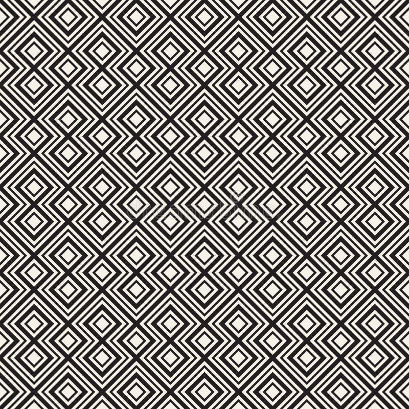 άνευ ραφής διάνυσμα προτύπων Σύγχρονη μοντέρνη αφηρημένη σύσταση Επανάληψη των γεωμετρικών κεραμιδιών στοκ φωτογραφίες με δικαίωμα ελεύθερης χρήσης