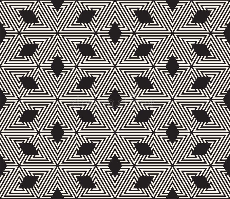 άνευ ραφής διάνυσμα προτύπων σύγχρονη μοντέρνη σύσταση Επανάληψη της γεωμετρικής επικεράμωσης από τα ριγωτά στοιχεία τριγώνων στοκ φωτογραφία με δικαίωμα ελεύθερης χρήσης