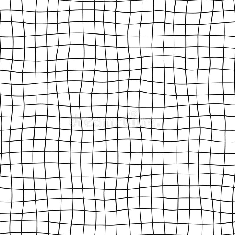 άνευ ραφής διάνυσμα προτύπ&omeg Γραπτό γεωμετρικό συρμένο χέρι υπόβαθρο με τις οριζόντιες και κάθετες γραμμές Απλή τυπωμένη ύλη σ ελεύθερη απεικόνιση δικαιώματος