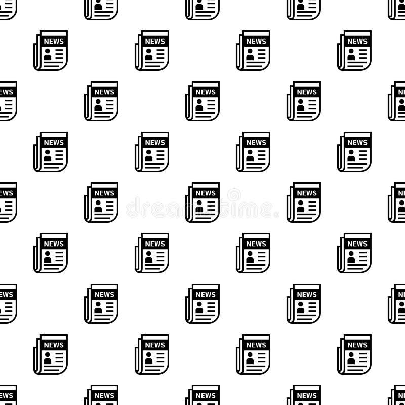 Άνευ ραφής διάνυσμα σχεδίων εκλογής εφημερίδων απεικόνιση αποθεμάτων