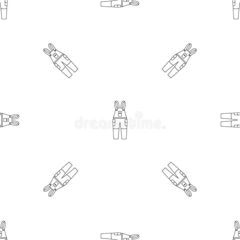 Άνευ ραφής διάνυσμα σχεδίων παντελονιού εργασίας ελεύθερη απεικόνιση δικαιώματος