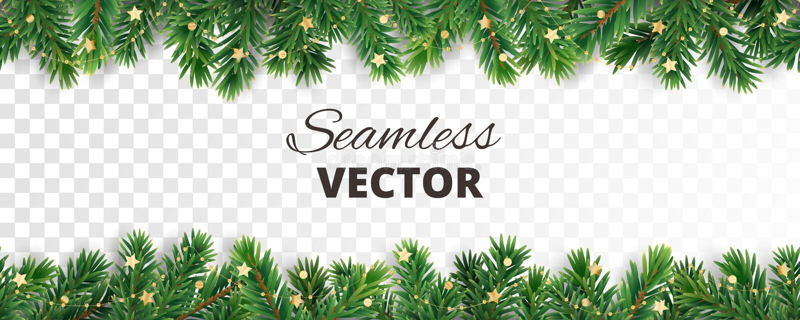 Άνευ ραφής διανυσματική διακόσμηση που απομονώνεται στο λευκό Πλαίσιο χριστουγεννιάτικων δέντρων, γιρλάντα με τις διακοσμήσεις ελεύθερη απεικόνιση δικαιώματος