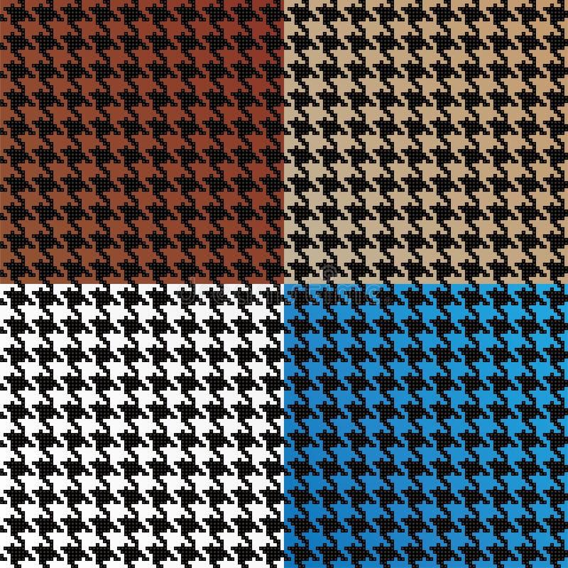 Άνευ ραφής διανυσματικό πρότυπο Houndstooth ελεύθερη απεικόνιση δικαιώματος