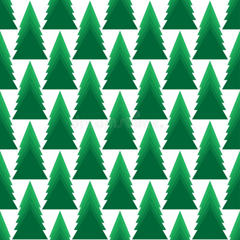 Άνευ ραφής διανυσματικό σχέδιο με τα χριστουγεννιάτικα δέντρα στοκ φωτογραφίες