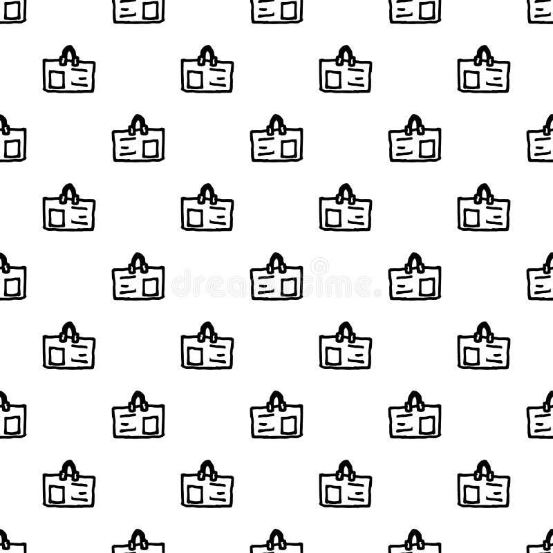Άνευ ραφής εικονίδιο διακριτικών doodle σχεδίων Handdrawn r Σύμβολο σημαδιών Στοιχείο διακοσμήσεων E απεικόνιση αποθεμάτων