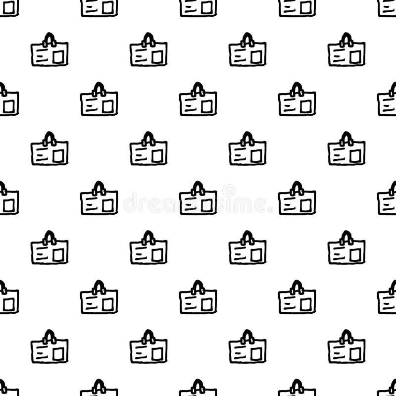 Άνευ ραφής εικονίδιο διακριτικών doodle σχεδίων Handdrawn r Σύμβολο σημαδιών Στοιχείο διακοσμήσεων E διανυσματική απεικόνιση