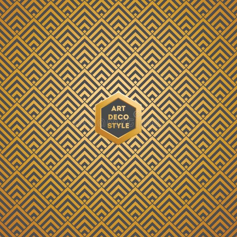 Άνευ ραφής εκλεκτής ποιότητας σχέδιο ταπετσαριών του Art Deco διανυσματική απεικόνιση