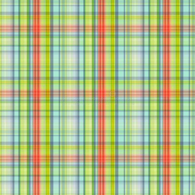 Άνευ ραφής ελεγμένο σχέδιο, τυπωμένη ύλη στα κίτρινα, γκρίζος-πράσινα και πορτοκαλιά χρώματα, διάνυσμα ελεύθερη απεικόνιση δικαιώματος