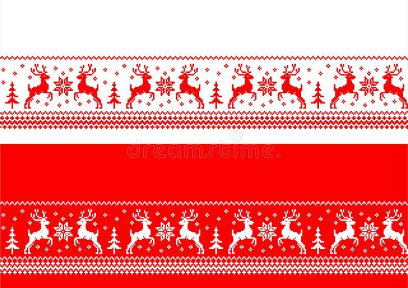 Άνευ ραφής εμβλήματα Χριστουγέννων ελεύθερη απεικόνιση δικαιώματος