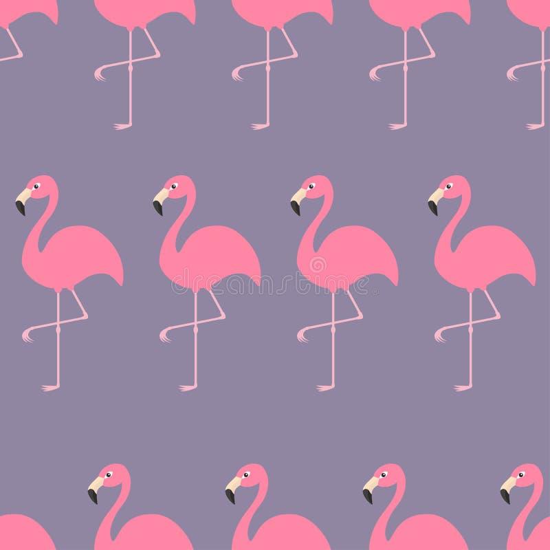 Άνευ ραφής εξωτικό τροπικό πουλί φλαμίγκο σχεδίων Ζωική συλλογή ζωολογικών κήπων Χαριτωμένος χαρακτήρας κινουμένων σχεδίων Στοιχε ελεύθερη απεικόνιση δικαιώματος