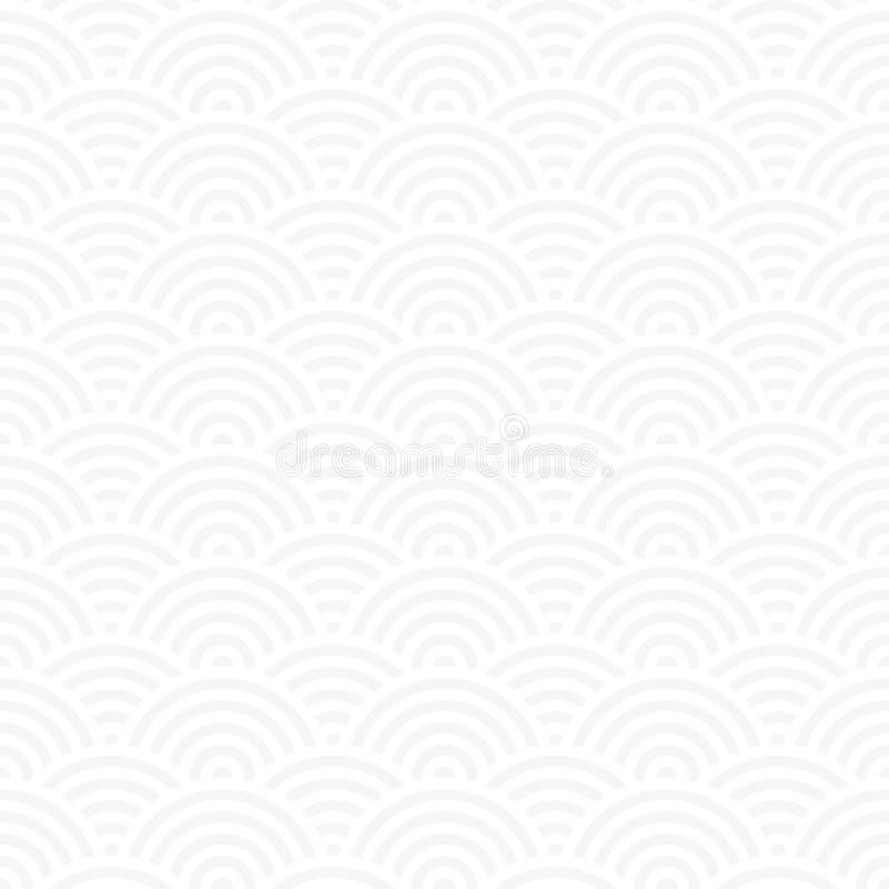 Άνευ ραφής λεπτό γκρίζο ιαπωνικό διάνυσμα σχεδίων ταπετσαριών απεικόνιση αποθεμάτων