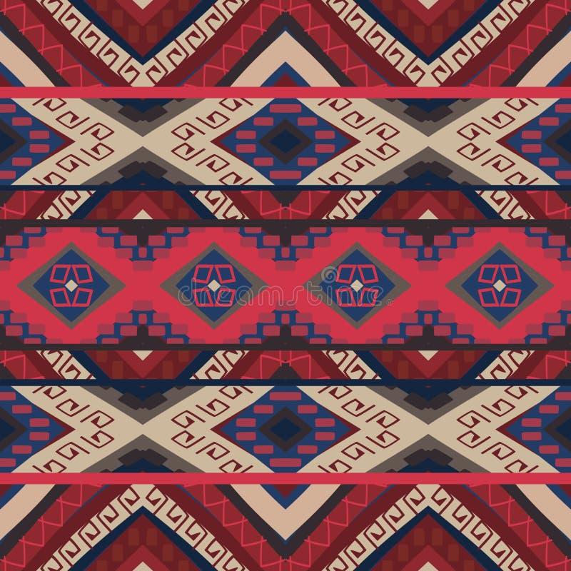 Άνευ ραφής ζωηρόχρωμο των Αζτέκων σχέδιο απεικόνιση αποθεμάτων