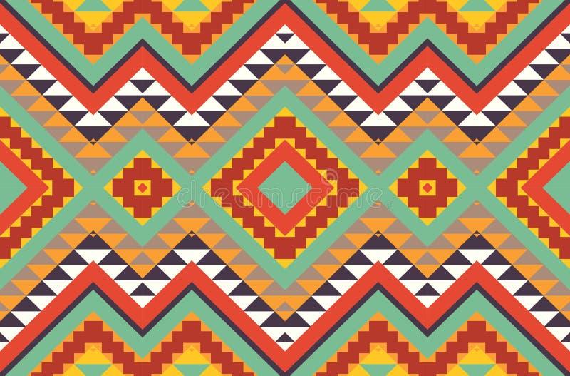 Άνευ ραφής ζωηρόχρωμο των Αζτέκων σχέδιο ελεύθερη απεικόνιση δικαιώματος