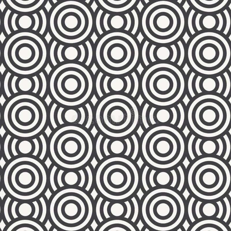 άνευ ραφής διάνυσμα προτύπων Επανάληψη των γεωμετρικών κεραμιδιών κύκλοι ομόκεντροι ελεύθερη απεικόνιση δικαιώματος