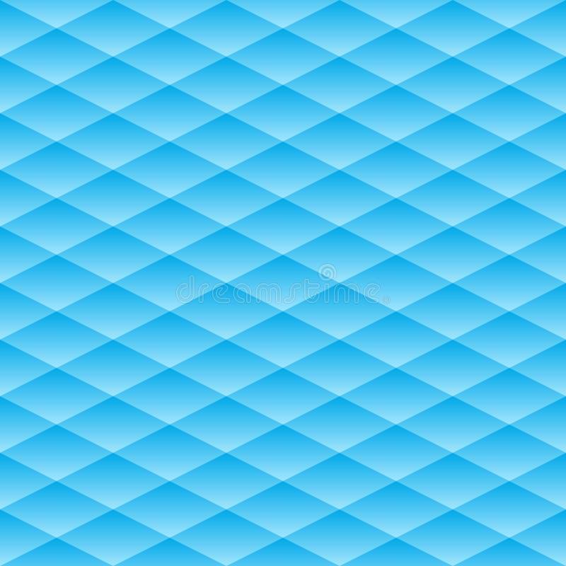 άνευ ραφής διάνυσμα προτύπων Ο γεωμετρικός όγκος με ένα σχέδιο κλίσης Μπλε γεωμετρικό ουδέτερο υπόβαθρο απεικόνιση αποθεμάτων