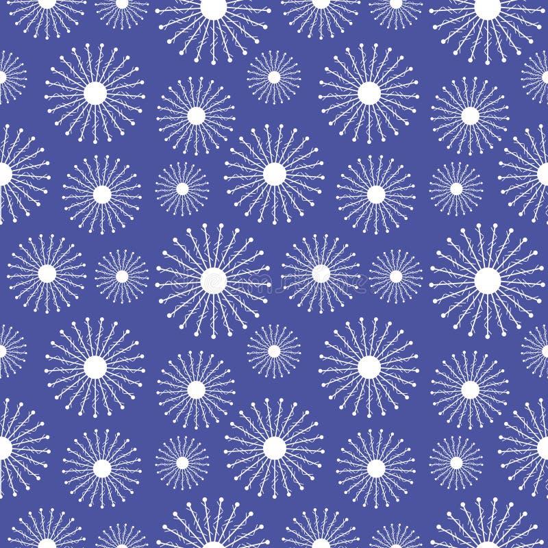 άνευ ραφής διάνυσμα προτύπ&omeg Εποχιακό χειμερινό μπλε υπόβαθρο με snowflakes κινηματογραφήσεων σε πρώτο πλάνο διανυσματική απεικόνιση